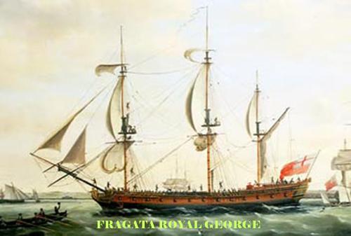 Fragata Royal George capturada