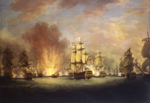 The_Moonlight_Battle_off_Cape_St_Vincent,_16_January_1780