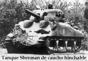 Tanque Sherman hinchable