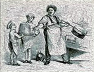 Dumas cocinando